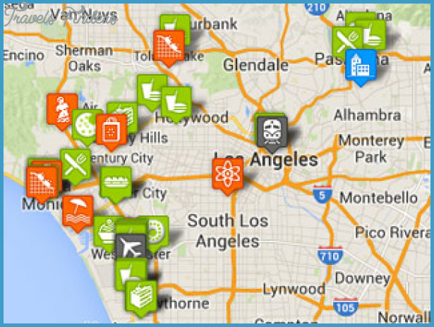 Los Angeles Map Tourist Attractions – Map Of La Tourist Attractions