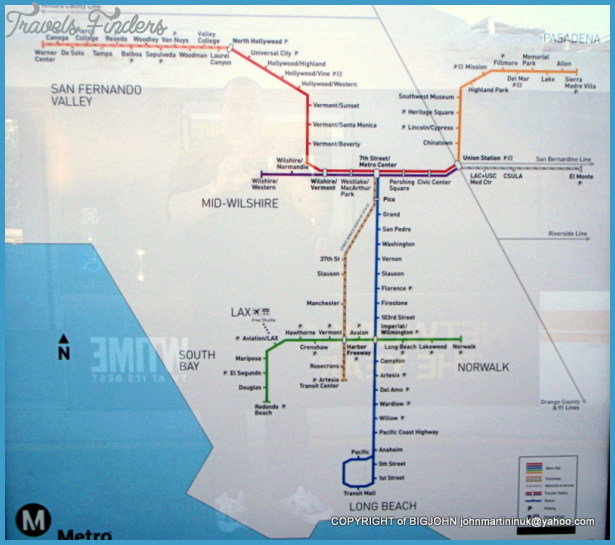 Los Angeles Metro Map  Travel  Map  Vacations