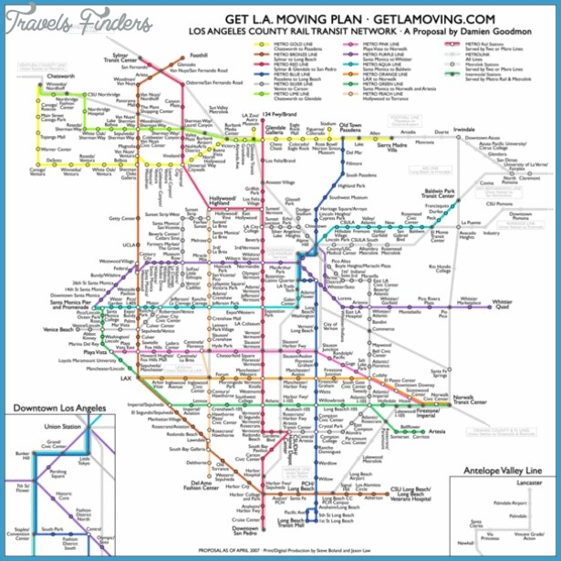 Los Angeles Subway Map Travelsfinders Com