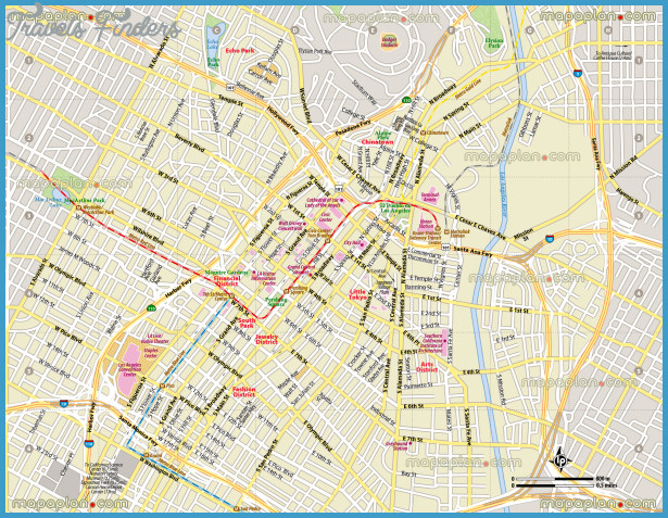 Los Angeles Map Tourist Attractions – La Tourist Map