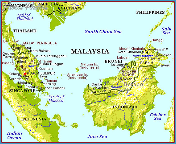 Malaysia Map Travel Map Vacations TravelsFindersCom - Malaysia map