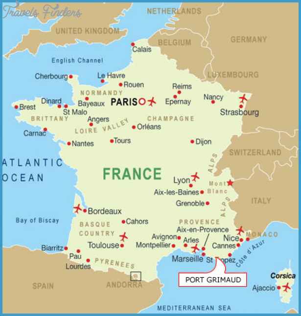 France Map Tourist Attractions TravelsFindersCom