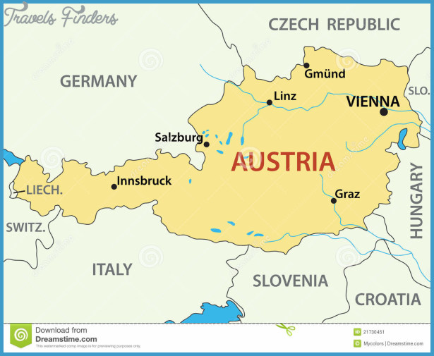 Austria Map Travel Map Vacations TravelsFindersCom - Graz austria map