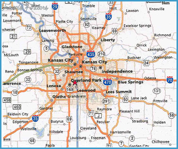 Kansas City Map Travel Map Vacations TravelsFindersCom - Kansas city map