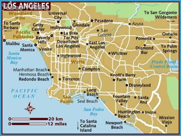 Los Angeles Map Travel Map Vacations TravelsFindersCom - Los angeles map venice beach