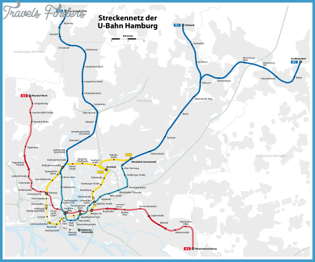 Hamburg Subway Map.Hamburg Metro Map Travelsfinders Com