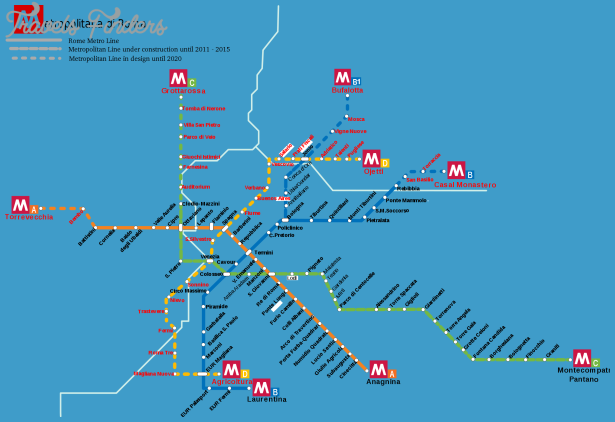 Italy Metro Map.Italy Subway Map Travelsfinders Com