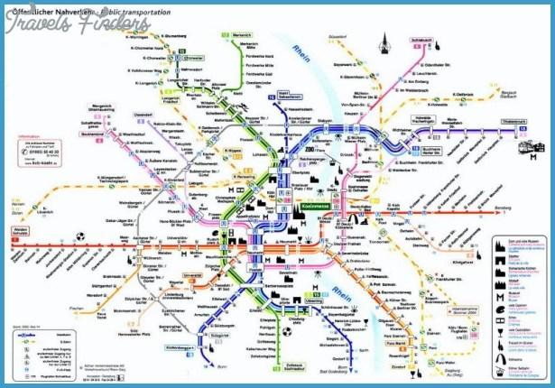 CologneBonn Subway Map TravelsFindersCom