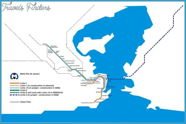 Rio de Janeiro Metro Map TravelsFindersCom
