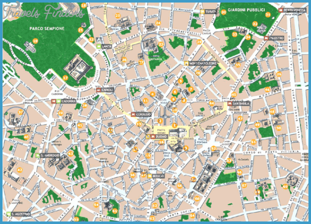 Milan Map Tourist Attractions – Milan Tourist Map