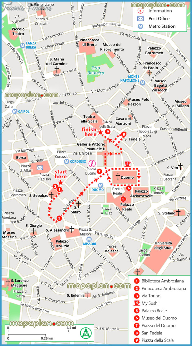 Milan Map Tourist Attractions – Milan Tourist Attractions Map