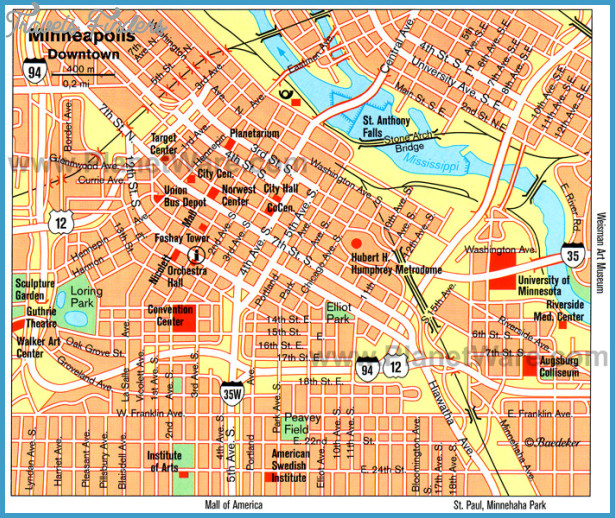 MinneapolisSt Paul Map Tourist Attractions  Travel
