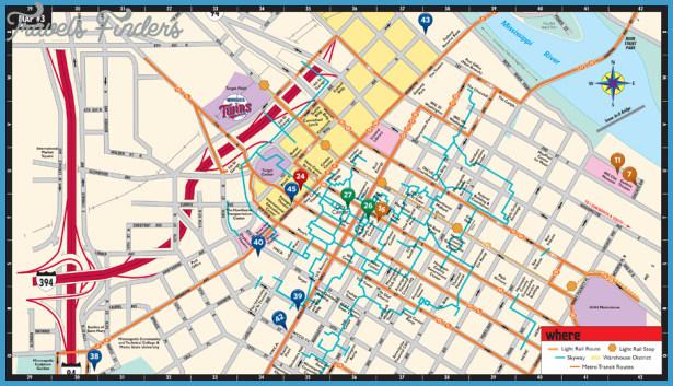 Minneapolis St Paul Metro Map Travelsfinders Com
