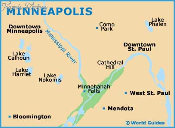 MinneapolisSt Paul Map Tourist Attractions – Minneapolis Tourist Attractions Map