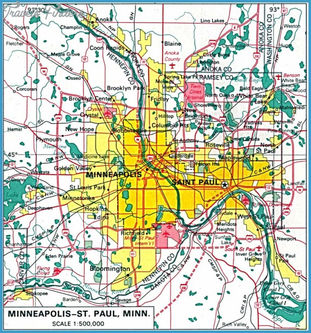 MinneapolisSt Paul Map Tourist Attractions – Tourist Attractions Map In Minnesota