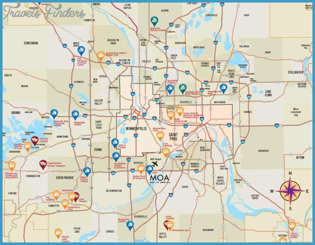 Minneapolis/St. Paul Map Tourist Attractions _0.jpg
