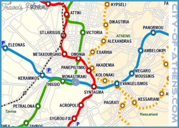 Athens Metro Map TravelsFindersCom