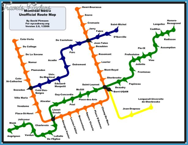 Montreal Metro Map - TravelsFinders Com ®