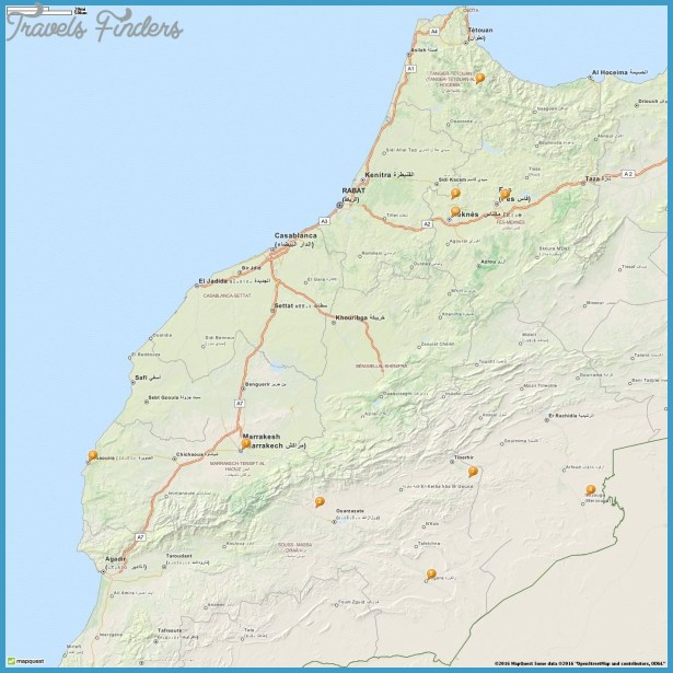 Morocco Map Tourist Attractions – Morocco Tourist Attractions Map