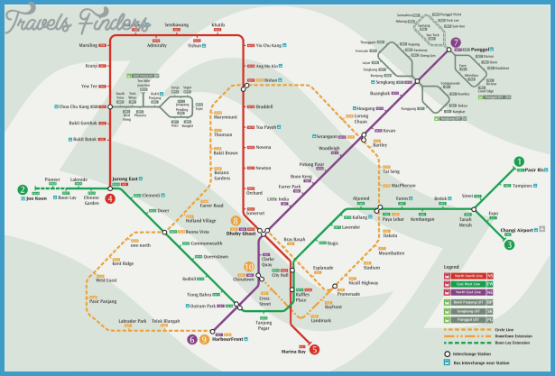 Singapore Subway Map Travelsfinders Com