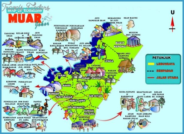 Malaysia Tourist Attractions Map Malaysia Map Tourist Attractions   TravelsFinders.®
