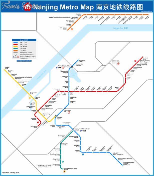 Nanjing Subway Map TravelsFindersCom - Nanjing map