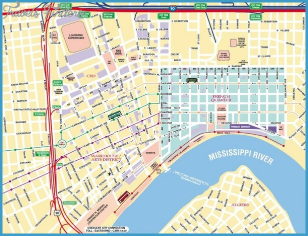 New Orleans Map Tourist Attractions – Tourist Attractions Map New Orleans
