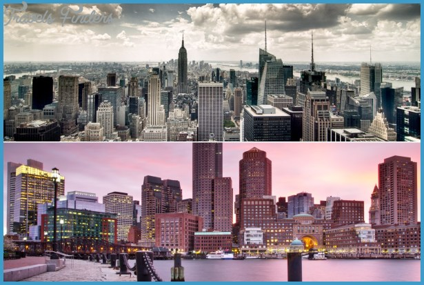 New York Map Vs Boston Map  Travel  Map  Vacations