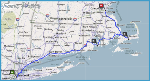 new york and boston map New York Map Vs Boston Map Travelsfinders Com new york and boston map