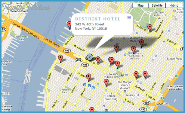 New York New York hotel map TravelsFindersCom