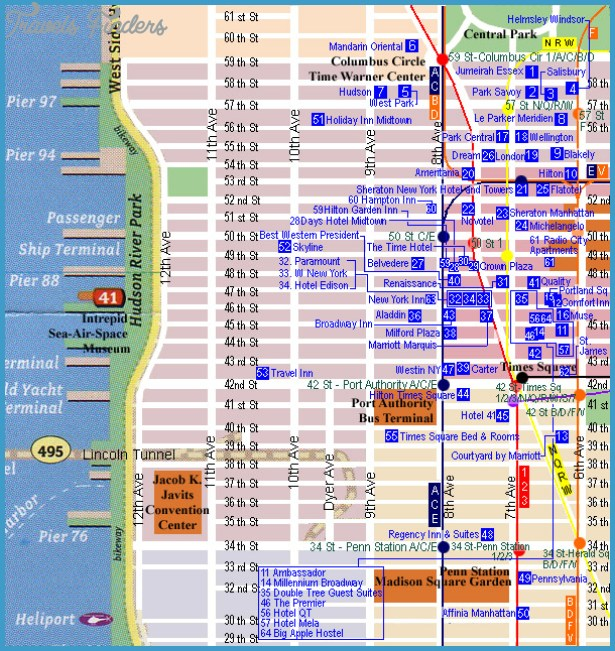 Hotel Map Of New York City.New York New York Hotel Map Travelsfinders Com