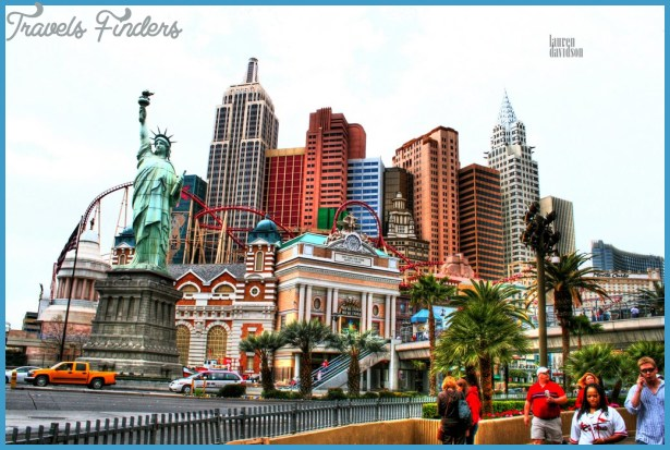Map Of New York New York Hotel.New York Map Las Vegas Travelsfinders Com