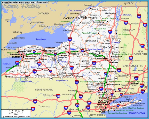 new york map travel map vacations travelsfinders