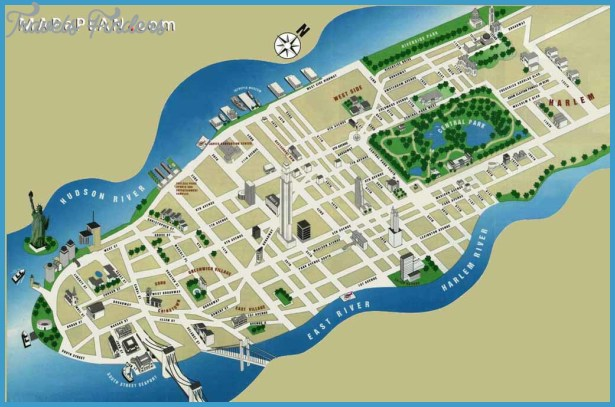 New york map tourist attractions travelsfinders com for Top ten nyc attractions