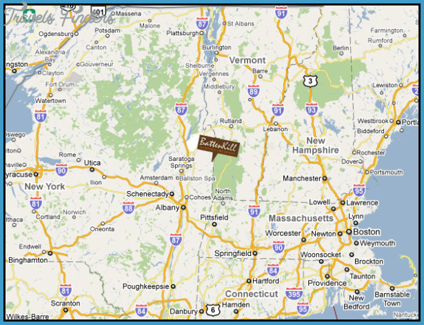 Map Of Vermont And New York New York vermont map   TravelsFinders.®