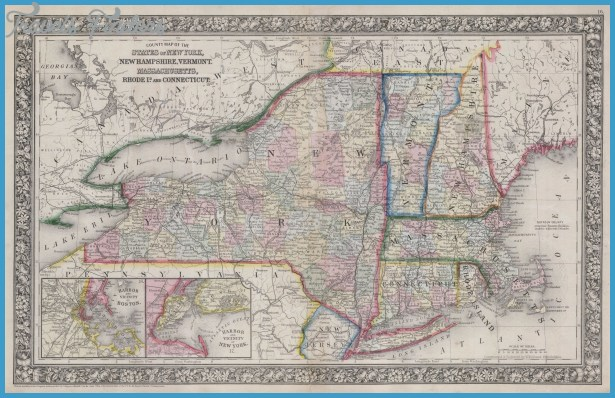 New York Vermont Map Travel Map Vacations TravelsFindersCom - Vermont colleges map