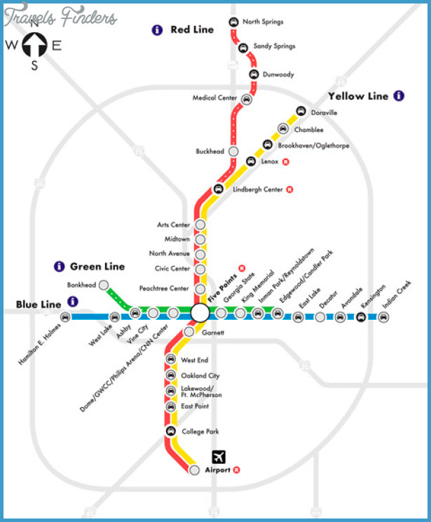 Atlanta Subway Map  Travel  Map  Vacations