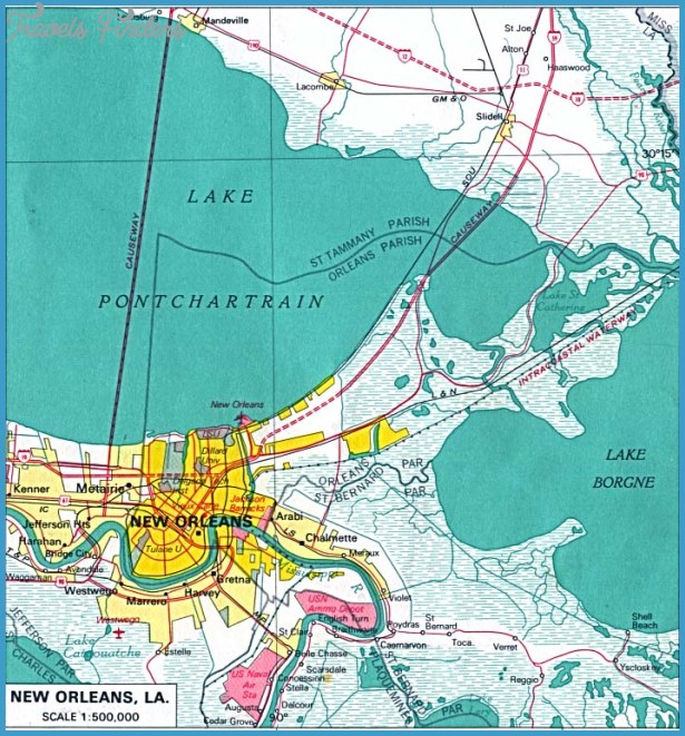 New Orleans Metro Map  Travel  Map  Vacations