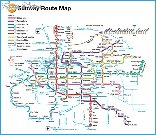 Map Of Osaka Subway