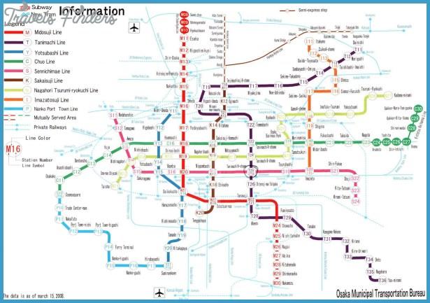 Subway Map Of Osaka.Osaka Metro Map Travelsfinders Com
