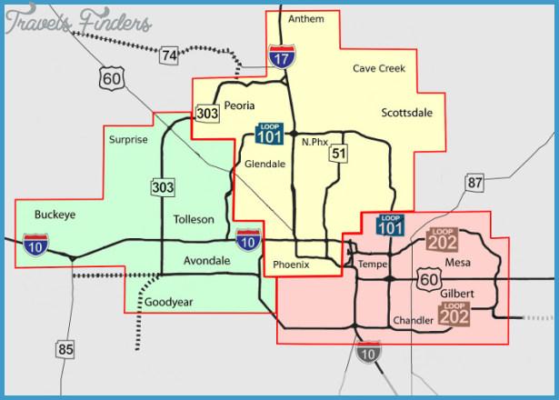 map of phoenix metro area Phoenix Metro Map Travelsfinders Com map of phoenix metro area