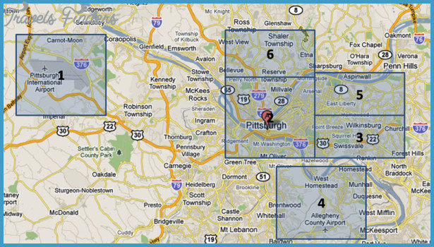 Pittsburgh Map Tourist Attractions TravelsFindersCom