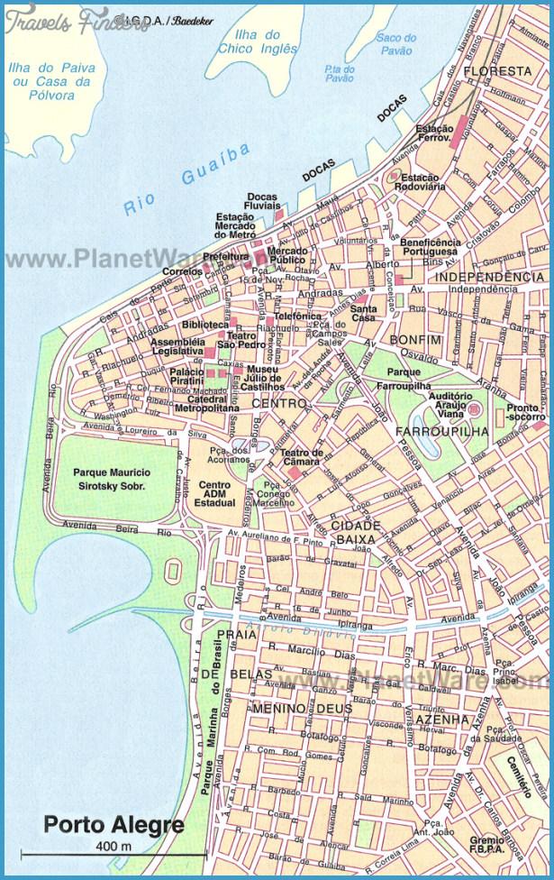 Porto Alegre Map Tourist Attractions Travelsfinders Com