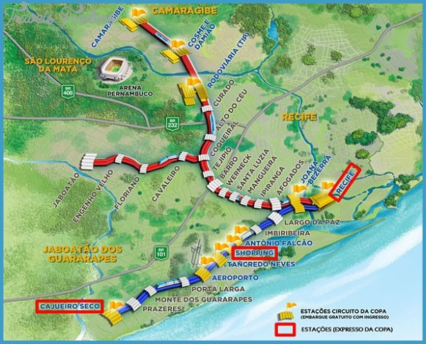 Recife Metro Map TravelsFindersCom