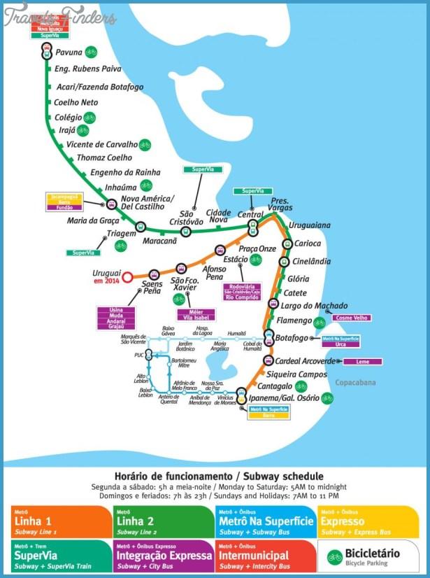 Rio de Janeiro Metro Map - TravelsFinders.Com ®