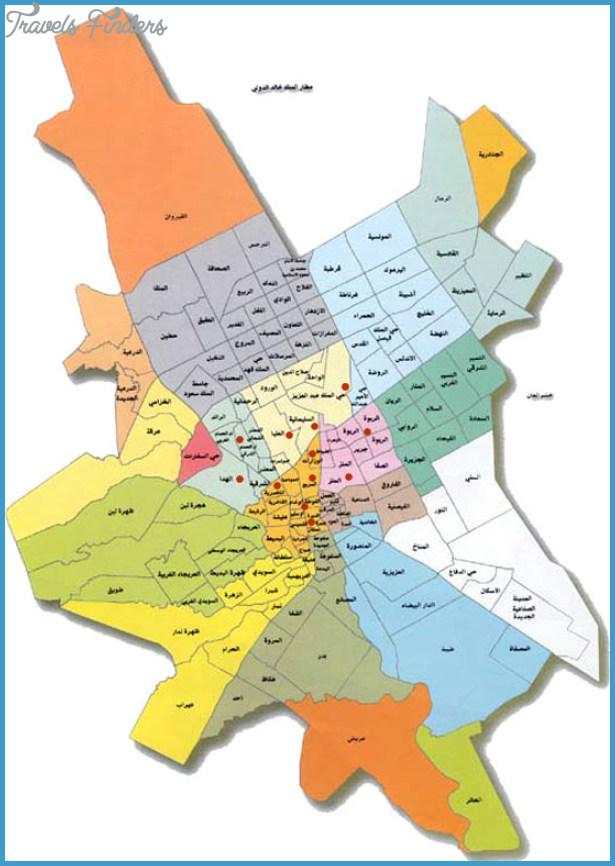 Riyadh Map TravelsFindersCom - riyadh map