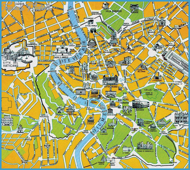 Rome Map Travelsfinders Com