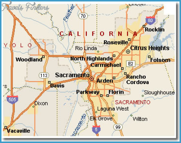 Sacramento Map TravelsFindersCom