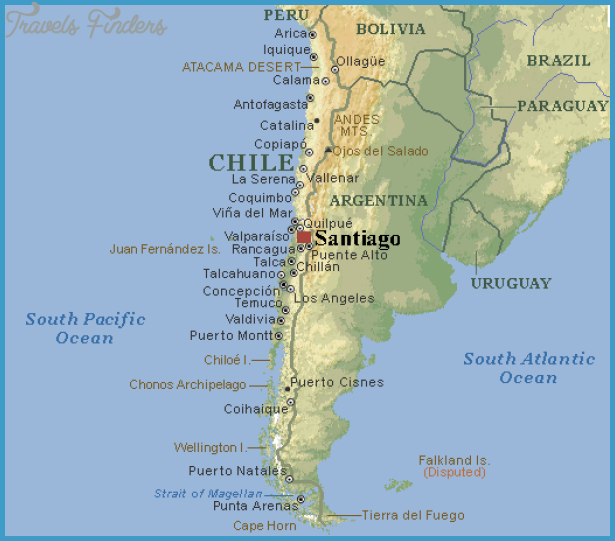 Santiago Map TravelsFindersCom