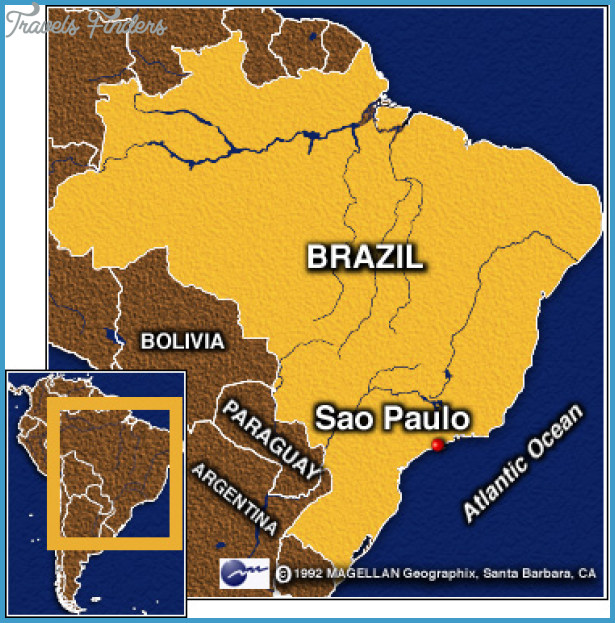 Sao Paulo Map TravelsFindersCom - Map of sao paulo
